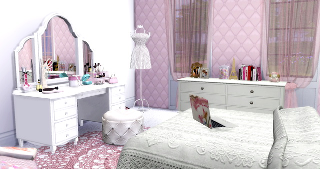 Vintage Retrô Teen Girl Bedroom at Lily Sims image 826 Sims 4 Updates