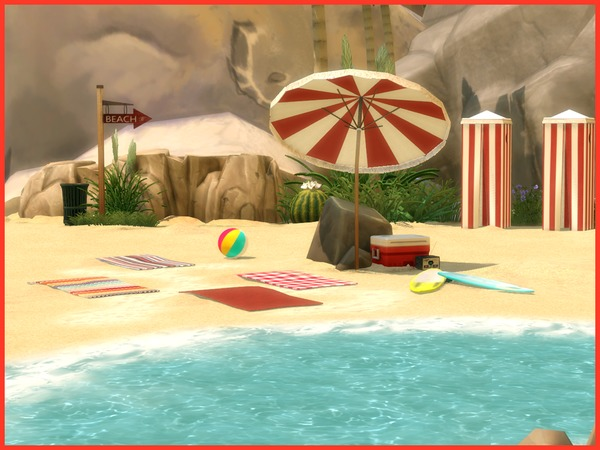Vintage Beach set by Angela at TSR image 828 Sims 4 Updates