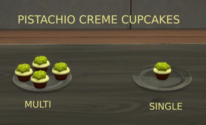 Pistachio Desserts Biscotti and Cupcake by icemunmun at Mod The Sims image 829 670x406 Sims 4 Updates
