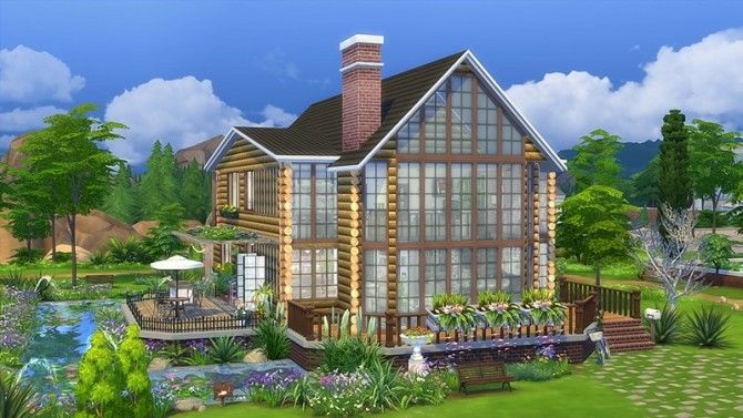 Iris Lake log cabin home at Vicky SweetBunny image 8312 670x377 Sims 4 Updates