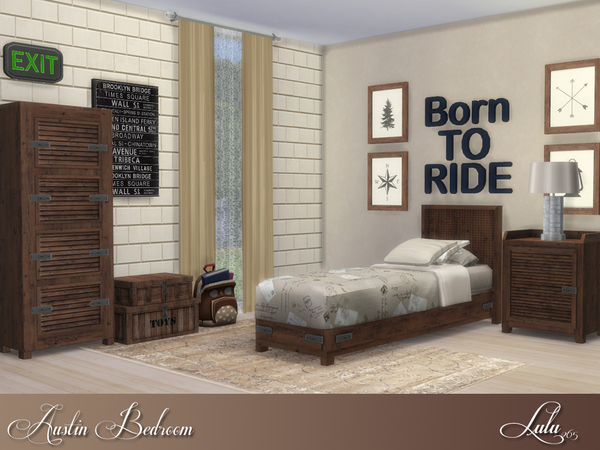 Austin Bedroom by Lulu265 at TSR. Austin Bedroom by Lulu265 at TSR   Sims 4 Updates