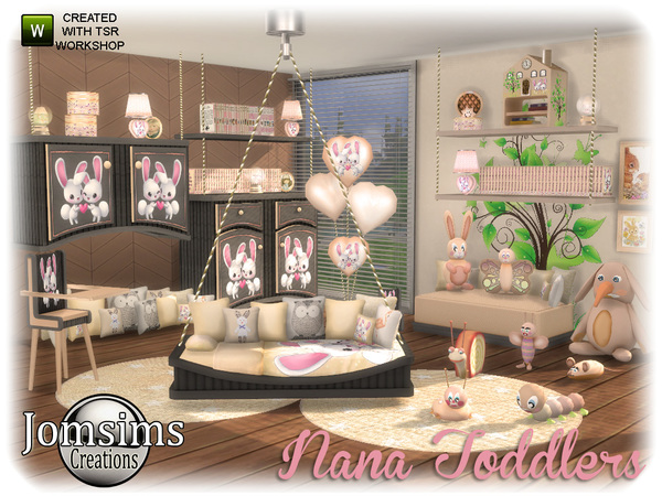 Nana toddlers bedroom by jomsims at TSR image 839 Sims 4 Updates