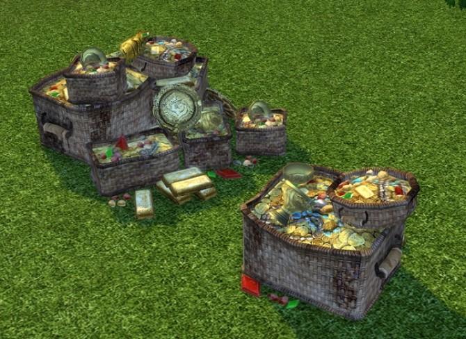 Sims 4 CS Large and Small Treasure Piles by BigUglyHag at SimsWorkshop