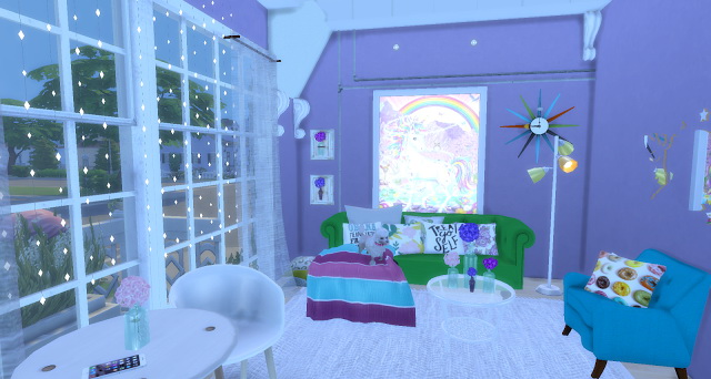 Unicorn rooms by Rissy Rawr at Pandasht Productions image 846 Sims 4 Updates