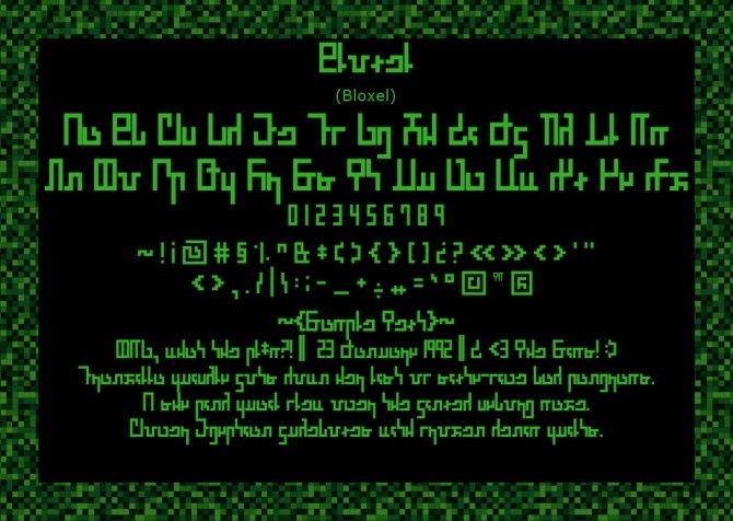 Bloxel Blocky Pixely Simlish Fonts by Franzilla at Mod The Sims image 8510 670x476 Sims 4 Updates