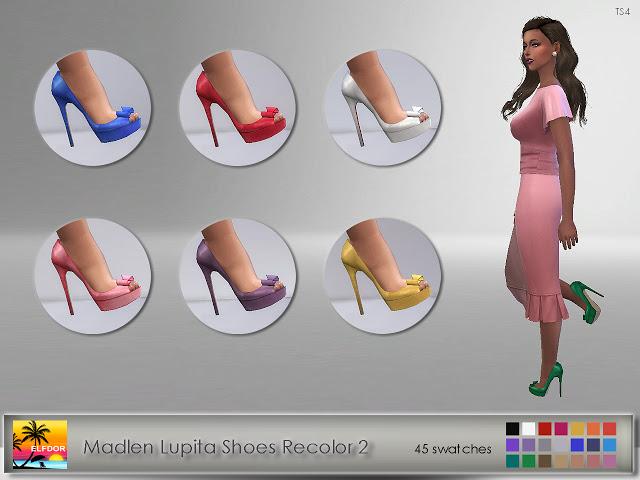 Sims 4 Madlen Lupita Shoes Recolor 2 at Elfdor Sims