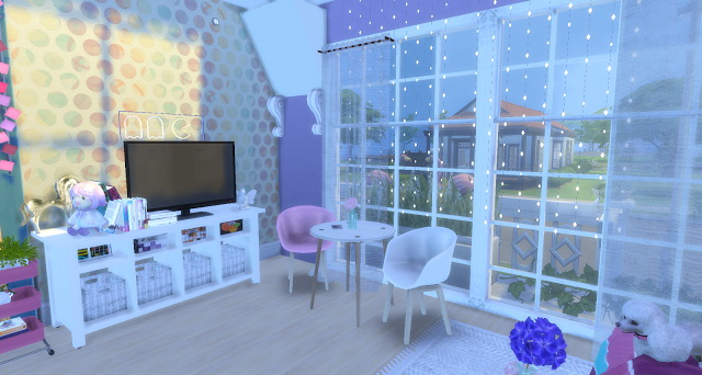 Sims 4 Unicorn rooms by Rissy Rawr at Pandasht Productions