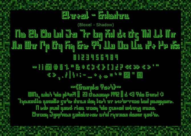 Bloxel Blocky Pixely Simlish Fonts by Franzilla at Mod The Sims image 869 670x476 Sims 4 Updates