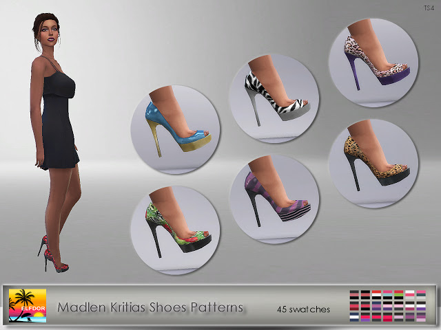 Sims 4 Madlen Kritias Shoes Patterns at Elfdor Sims
