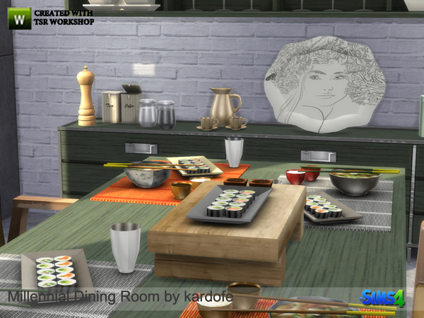 Millennial Dining Room by kardofe at TSR image 880 Sims 4 Updates