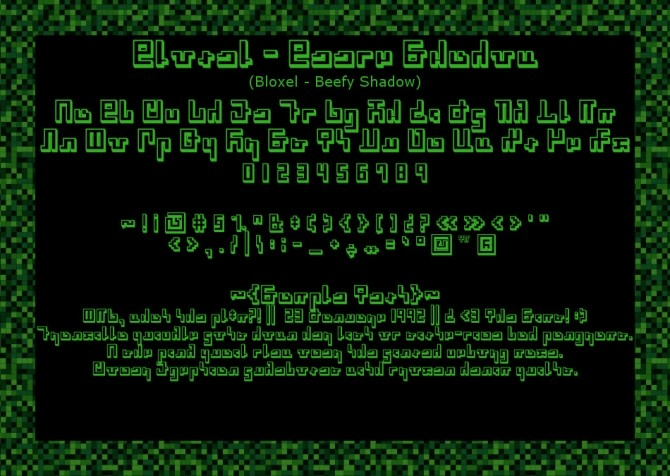 Bloxel Blocky Pixely Simlish Fonts by Franzilla at Mod The Sims image 8810 670x476 Sims 4 Updates
