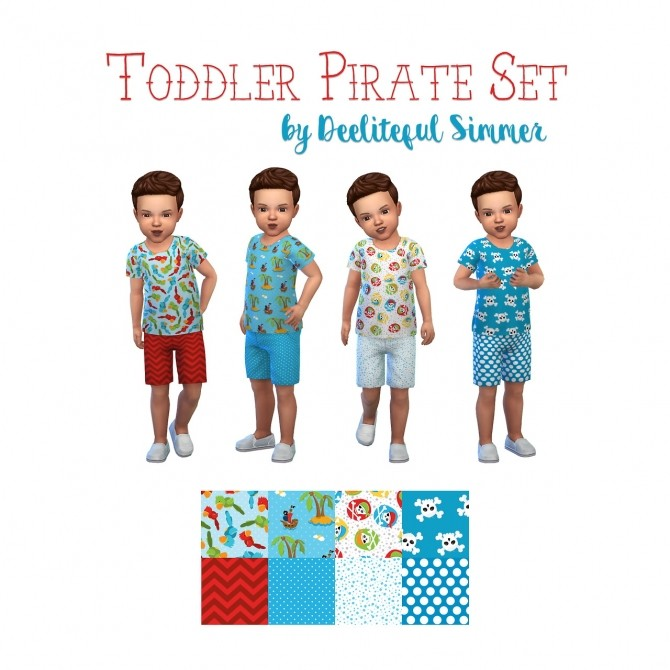 Toddler pirate set at Deeliteful Simmer image 8811 670x670 Sims 4 Updates