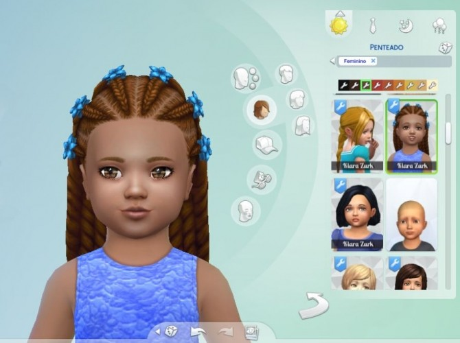Sims 4 Braids Clips Conversion at My Stuff