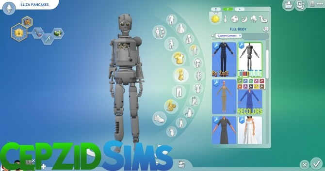 Simbot Costume Conversion by cepzid at SimsWorkshop image 89 670x353 Sims 4 Updates