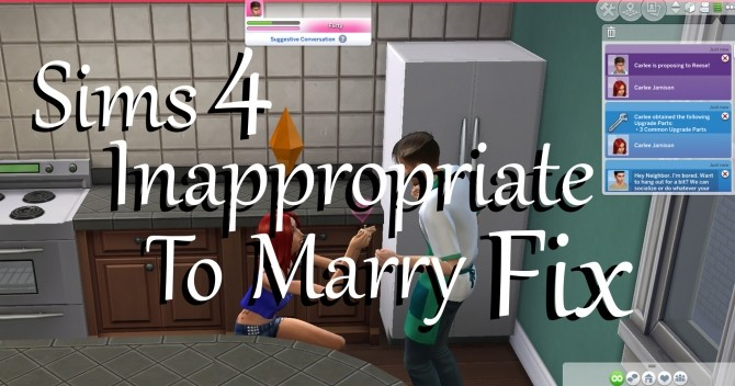 Inappropriate To Marry FIX by PolarBearSims at Mod The Sims image 8910 670x352 Sims 4 Updates