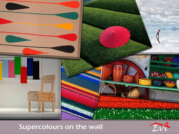 Supercolours on the wall by evi at TSR image 8917 Sims 4 Updates