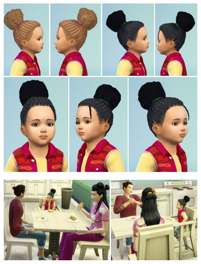 Toddler City Dreads Bun at Birksches Sims Blog image 899 Sims 4 Updates