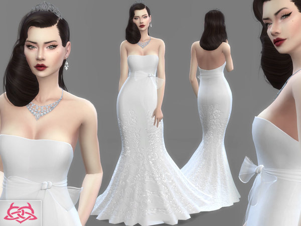 Sims 4 Wedding Dress 4 by Colores Urbanos at TSR