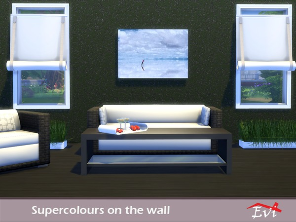 Supercolours on the wall by evi at TSR image 9017 Sims 4 Updates
