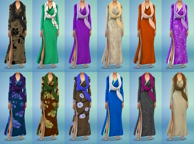 Sims 4 Vampire Wrap Dress at My Stuff