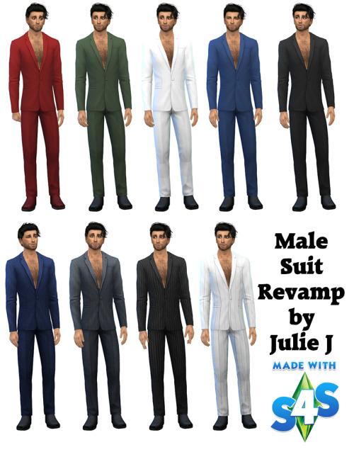 Sims 4 Male Suit Revamped at Julietoon – Julie J