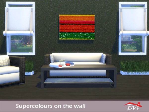 Supercolours on the wall by evi at TSR image 9218 Sims 4 Updates