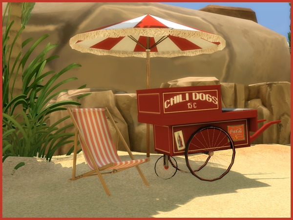 Vintage Beach set by Angela at TSR image 928 Sims 4 Updates