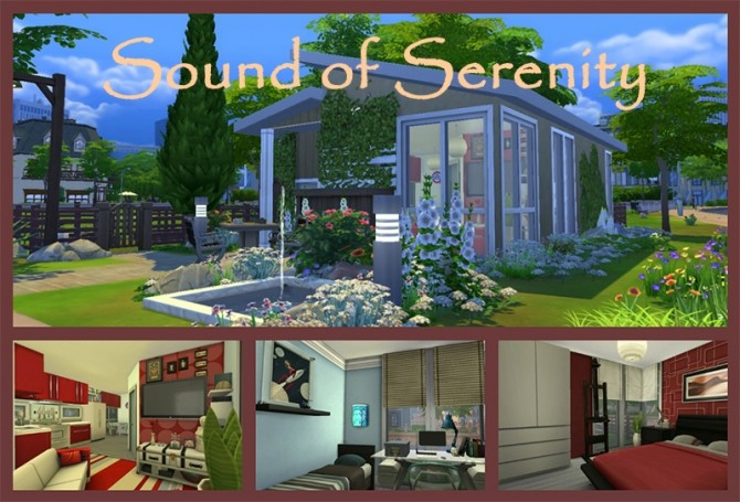 Sims 4 Sound of Serenity tiny house by Ainotar at Mod The Sims