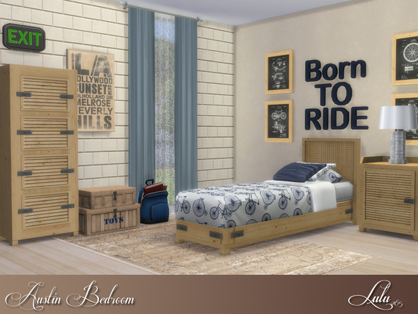Austin Bedroom by Lulu265 at TSR image 940 Sims 4 Updates