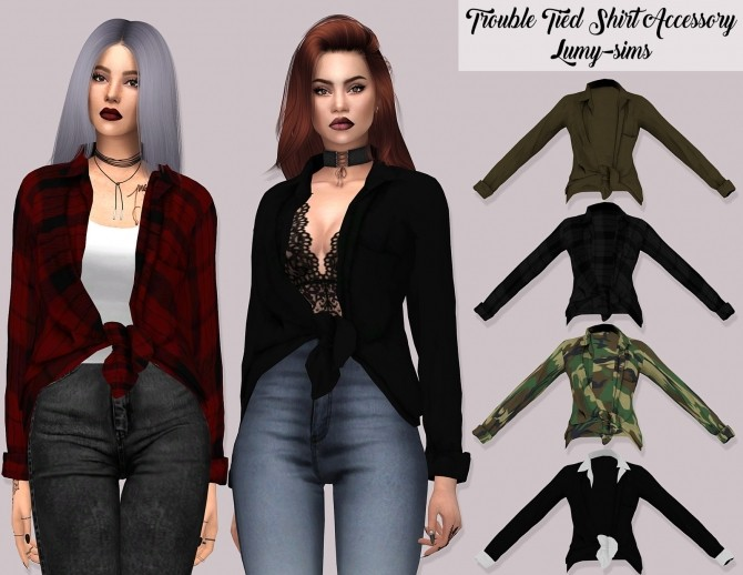 Trouble Tied Shirt Acc at Lumy Sims image 9412 670x518 Sims 4 Updates