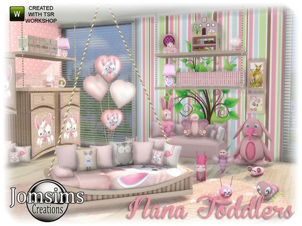 Nana toddlers bedroom by jomsims at TSR image 950 Sims 4 Updates