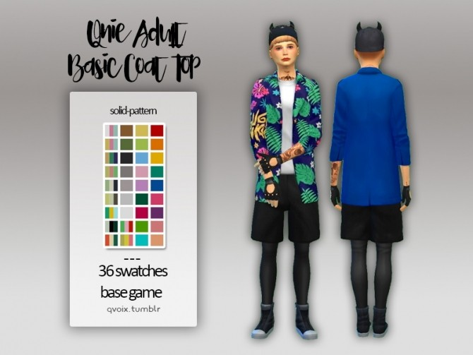 Basic Coat Top at qvoix – escaping reality image 951 670x503 Sims 4 Updates