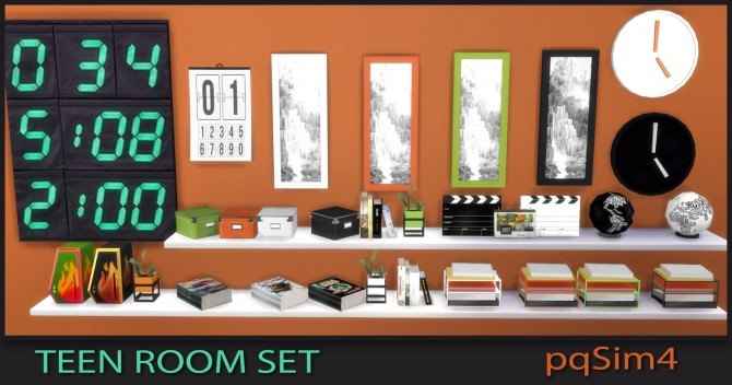 Sims 4 Teen Bedroom Set at pqSims4