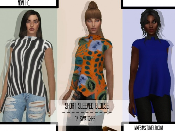 Short Sleeved Blouse at MXFSims image 9611 670x503 Sims 4 Updates