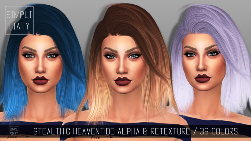 Sims 4 Stealthic Heaventide Alpha Edit & Retexture by Simpliciaty at Sims Addictions