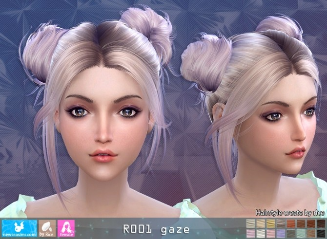 R001 Gaze hair (Pay) at Newsea Sims 4 image 985 670x491 Sims 4 Updates