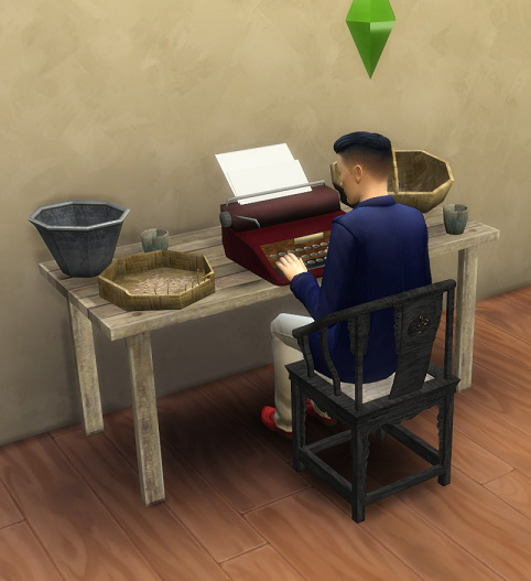 Sims 4 Sims 3 to 4 Table Utility China by BigUglyHag at SimsWorkshop