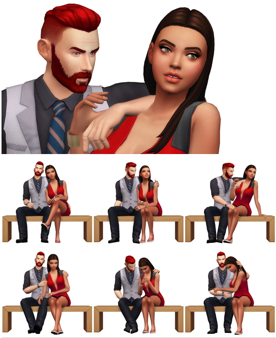 Sims 4 Couple Poses #11 (Remake) at Rinvalee