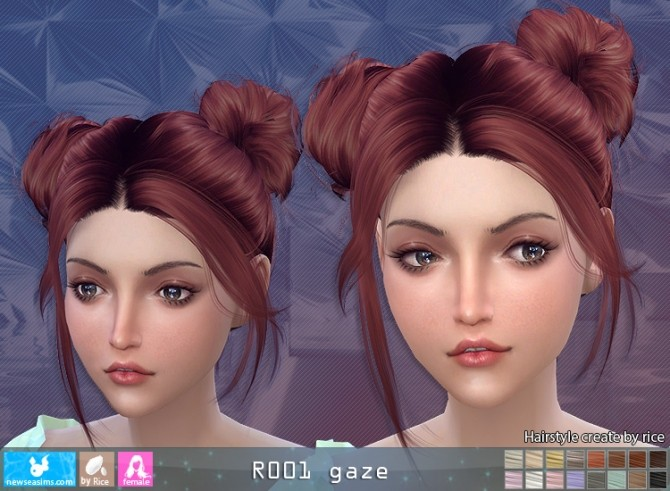 R001 Gaze hair (Pay) at Newsea Sims 4 image 995 670x491 Sims 4 Updates