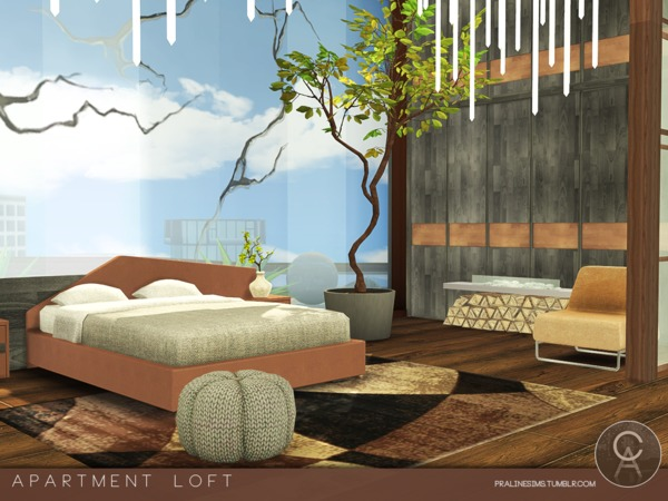Apartment Loft by Pralinesims at TSR image 10 Sims 4 Updates