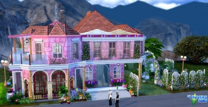 Sims 4 Rose House by Coco Simy at L'UniverSims