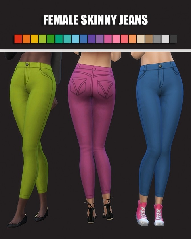 Sims 4 Female Skinny Jeans at Maimouth Sims4