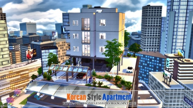 Korean Style Apartment at Homeless Sims image 1016 670x376 Sims 4 Updates