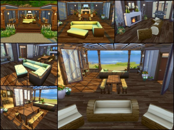 Sims 4 Driftwood cottage by sparky at TSR