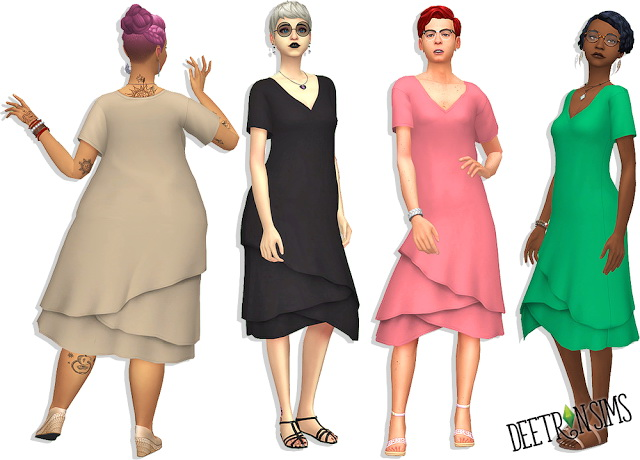 Slouchy Summer Dress at Deetron Sims image 10215 Sims 4 Updates
