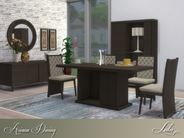 Sims 4 Ariana Dining by Lulu265 at TSR