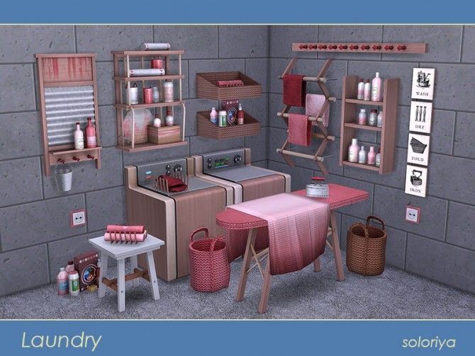 Sims 4 Laundry set at Soloriya