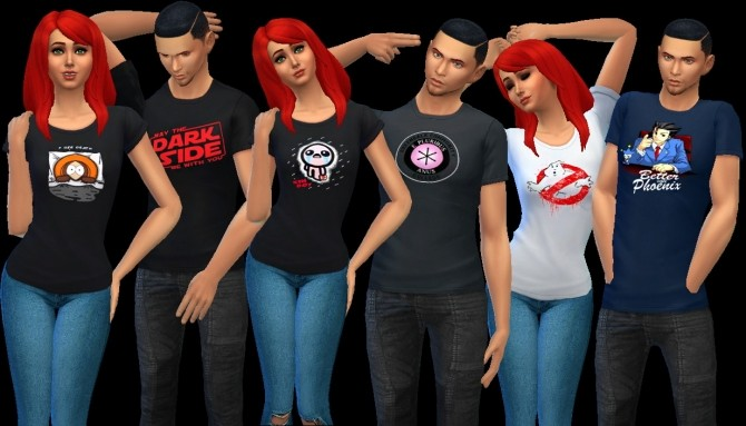 Sims 4 June Shirtpack at AuriSims