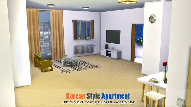 Korean Style Apartment at Homeless Sims image 1033 670x376 Sims 4 Updates
