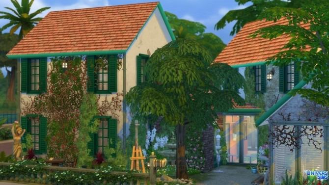 Sims 4 1 rue des Magnolias house by chipie cyrano at L'UniverSims